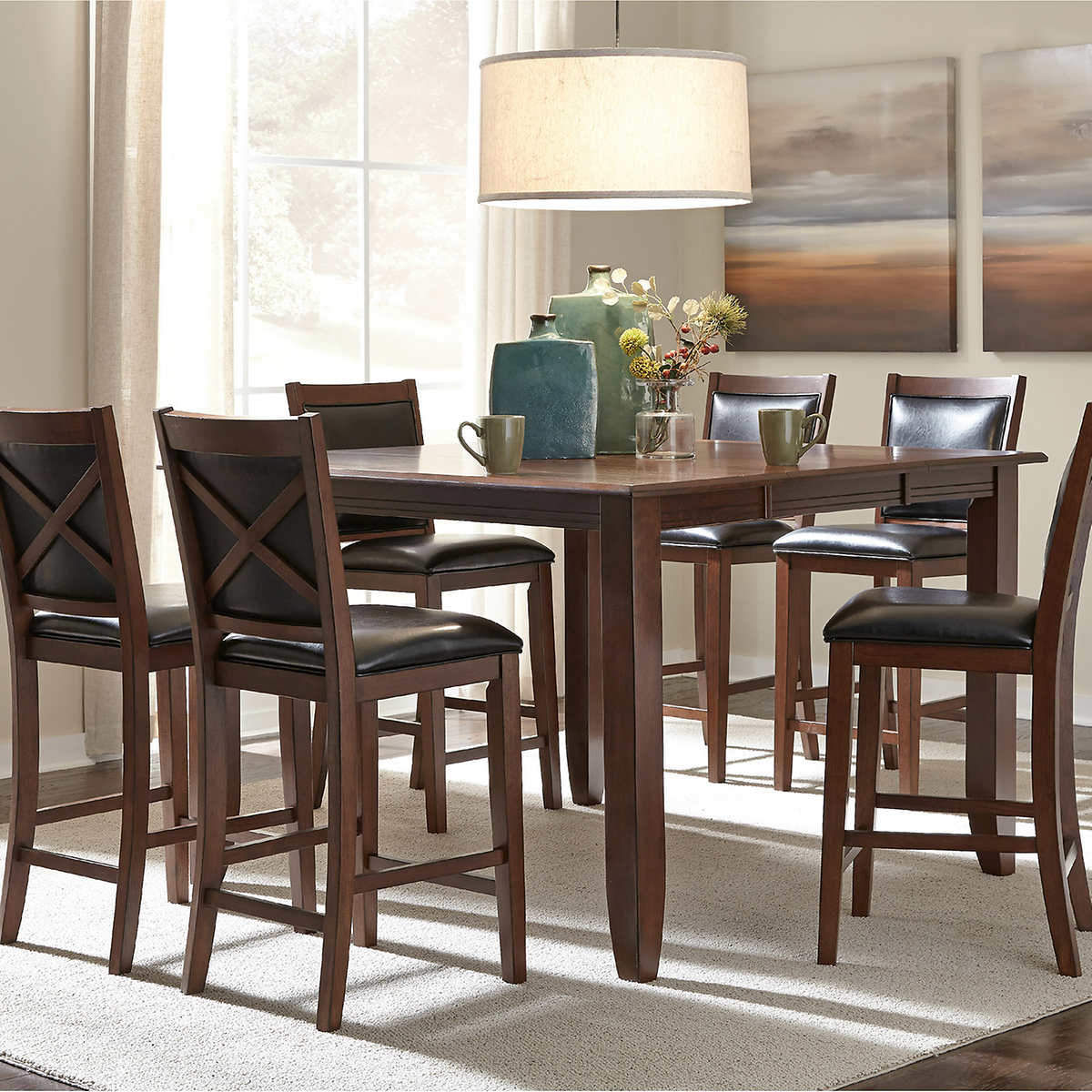 torence piece counter height dining set.