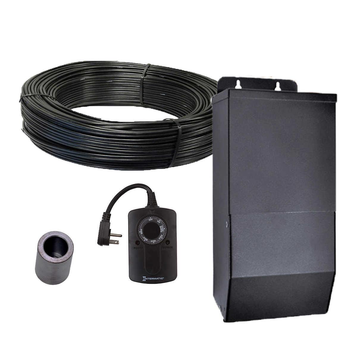 Solar patio lights costco - Professional Series 100 Watt Landscape Lighting Power And Accessory Kit