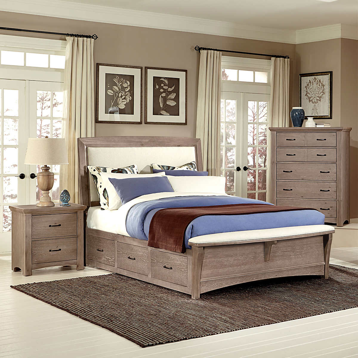 queen bedroom sets  costco - chambers dual storage piece queen bedroom set