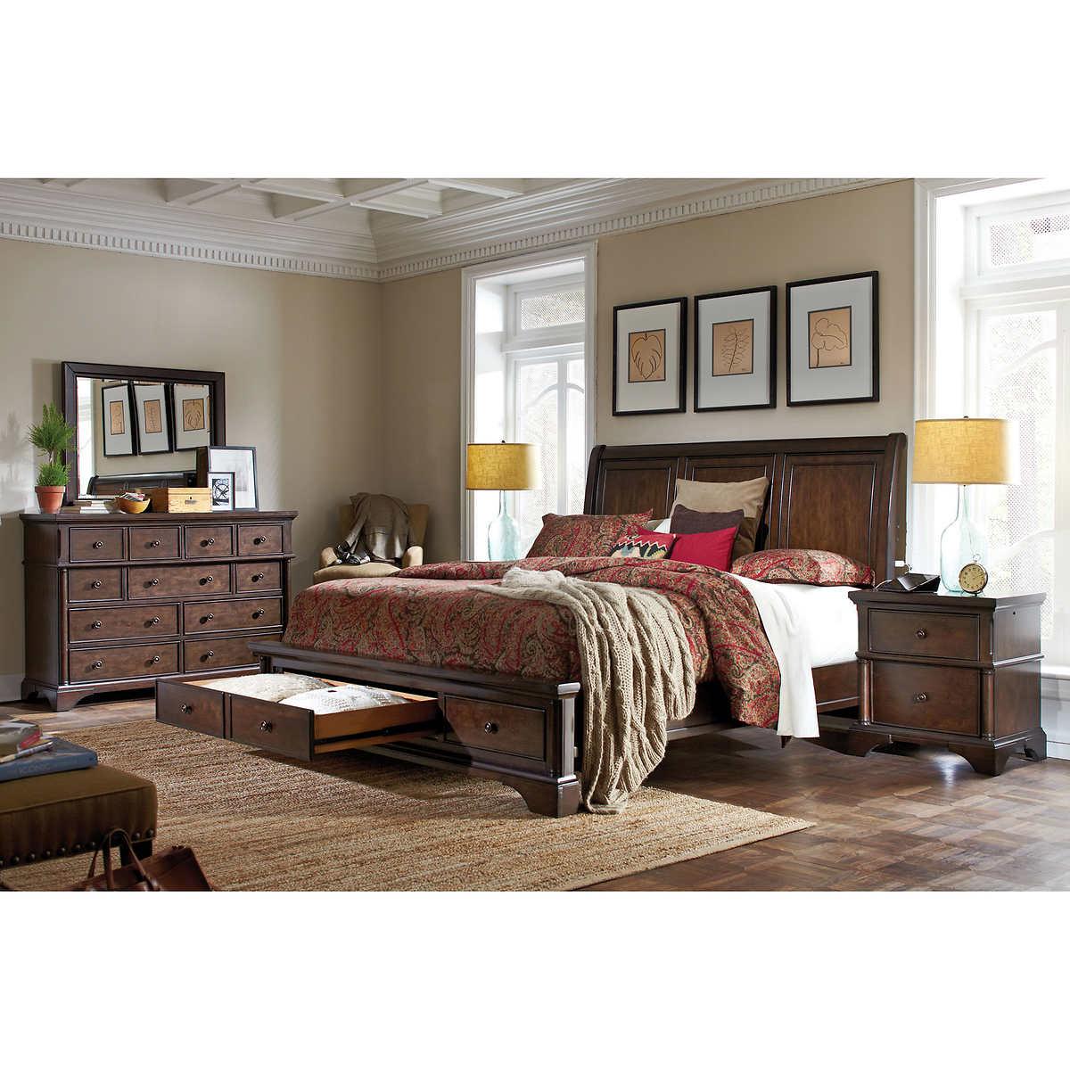 King Sleigh Bed Bedroom Sets Cal King Bedroom Sets