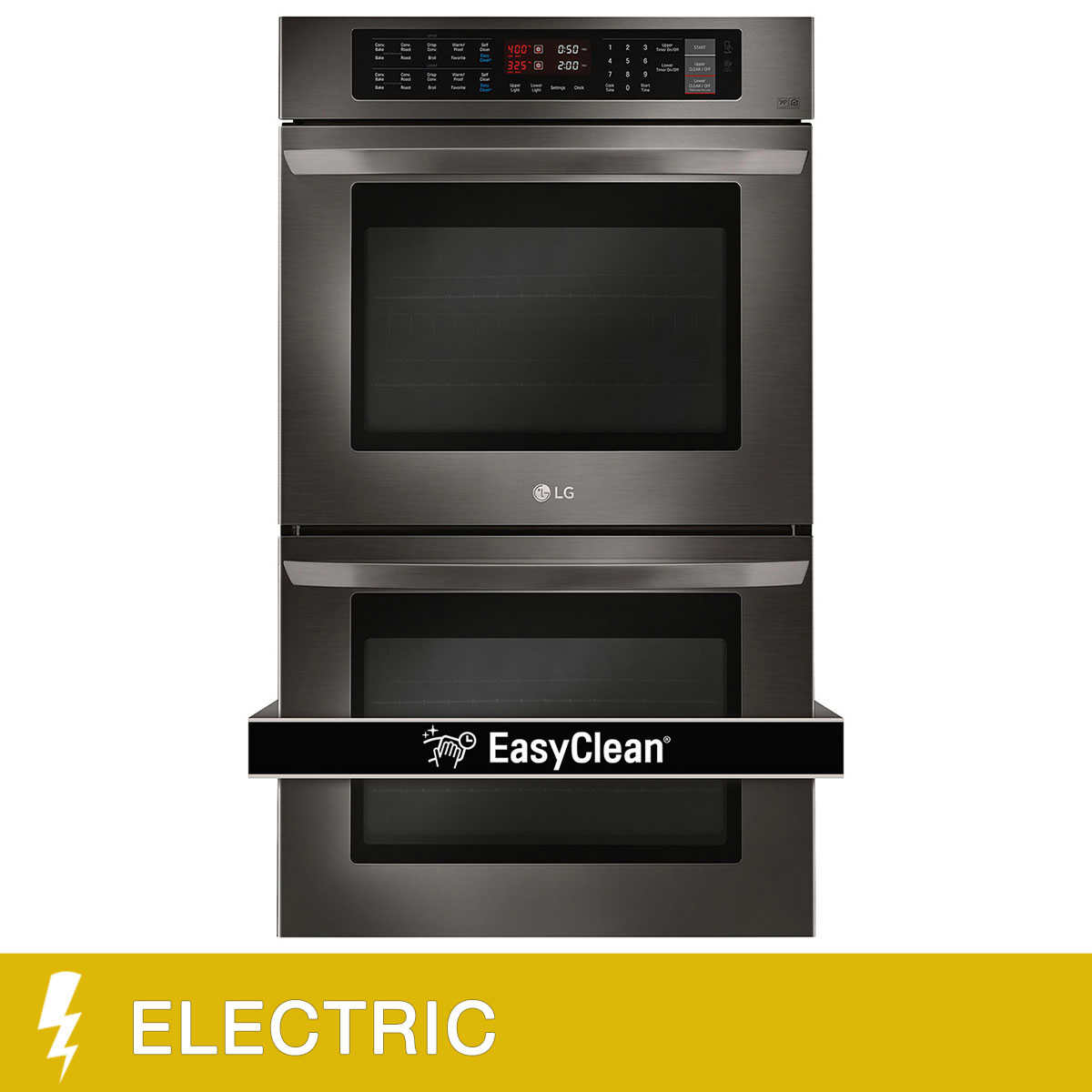 Wall oven under cooktop - Lg 4 7cuft Upper Lower Capacity Double Built In Wall Oven With Crisp Convection