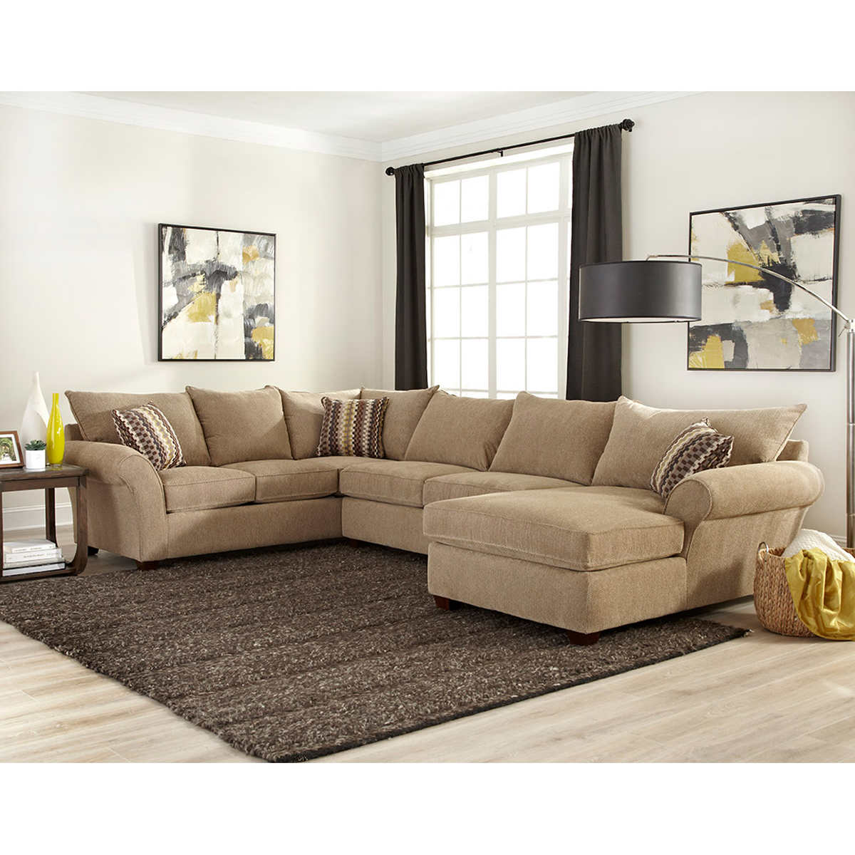 Sectional Fabric Sofa Living Room Modern Furniture