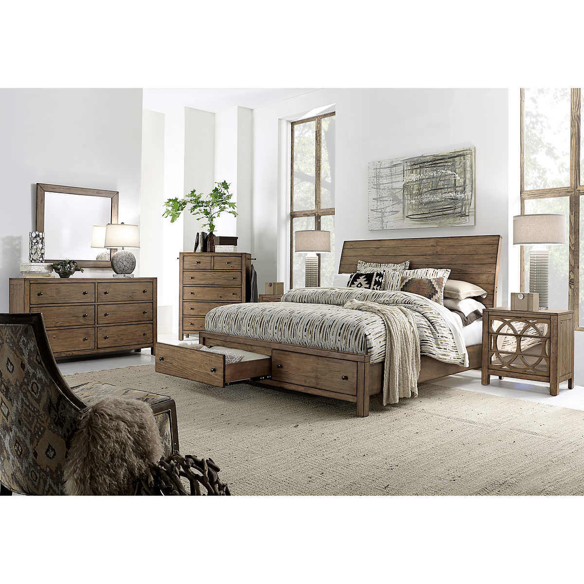 queen bedroom sets  costco - audrey piece queen storage bedroom set