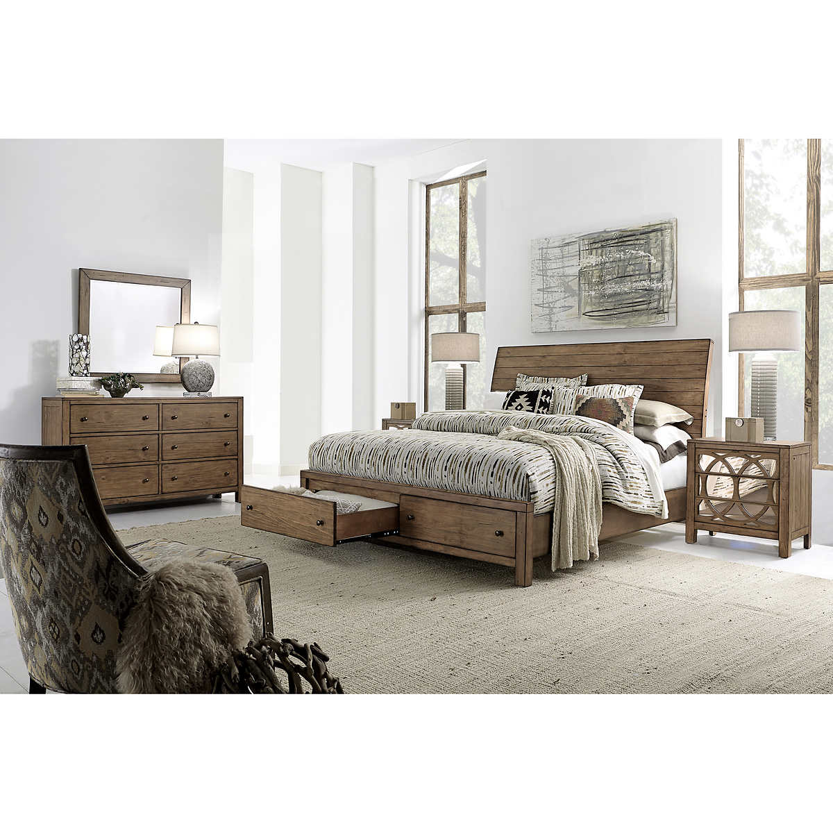 Audrey 5piece Cal King Storage Bedroom Set