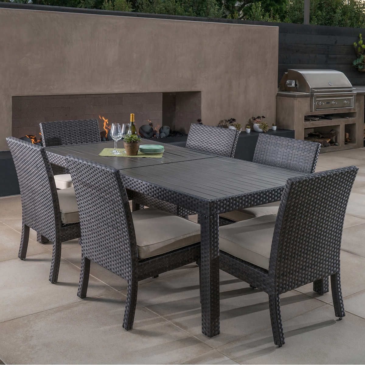 Picnic table as dining room table - Kingston 7 Piece Dining Set By Mission Hills