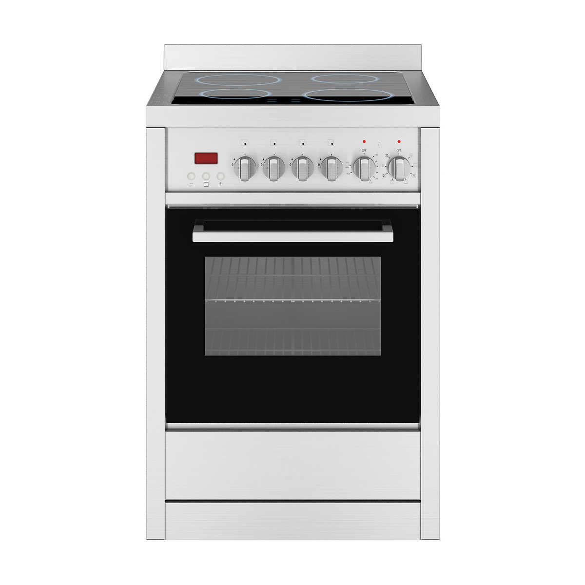 Whirlpool white ice drop in range - Ancona Gourmet Series 24 2 5cuft Freestanding Stainless Steel Electric Range With Vitroceramic Cooktop