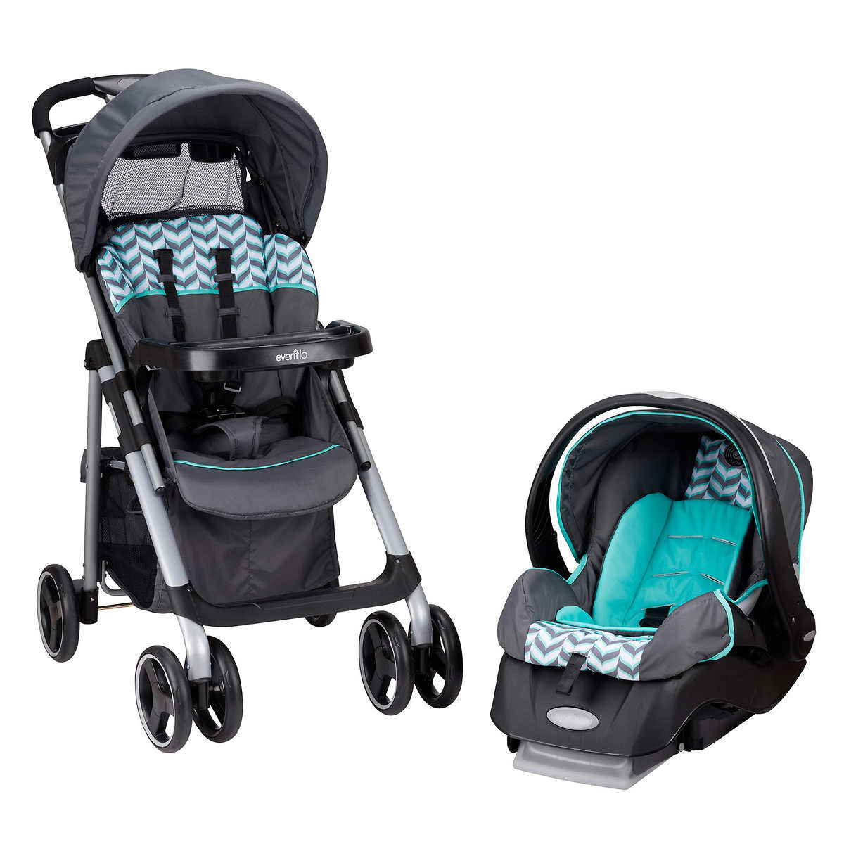 evenflo strollers  carriers  costco - evenflo vive with embrace travel system  speariment spree