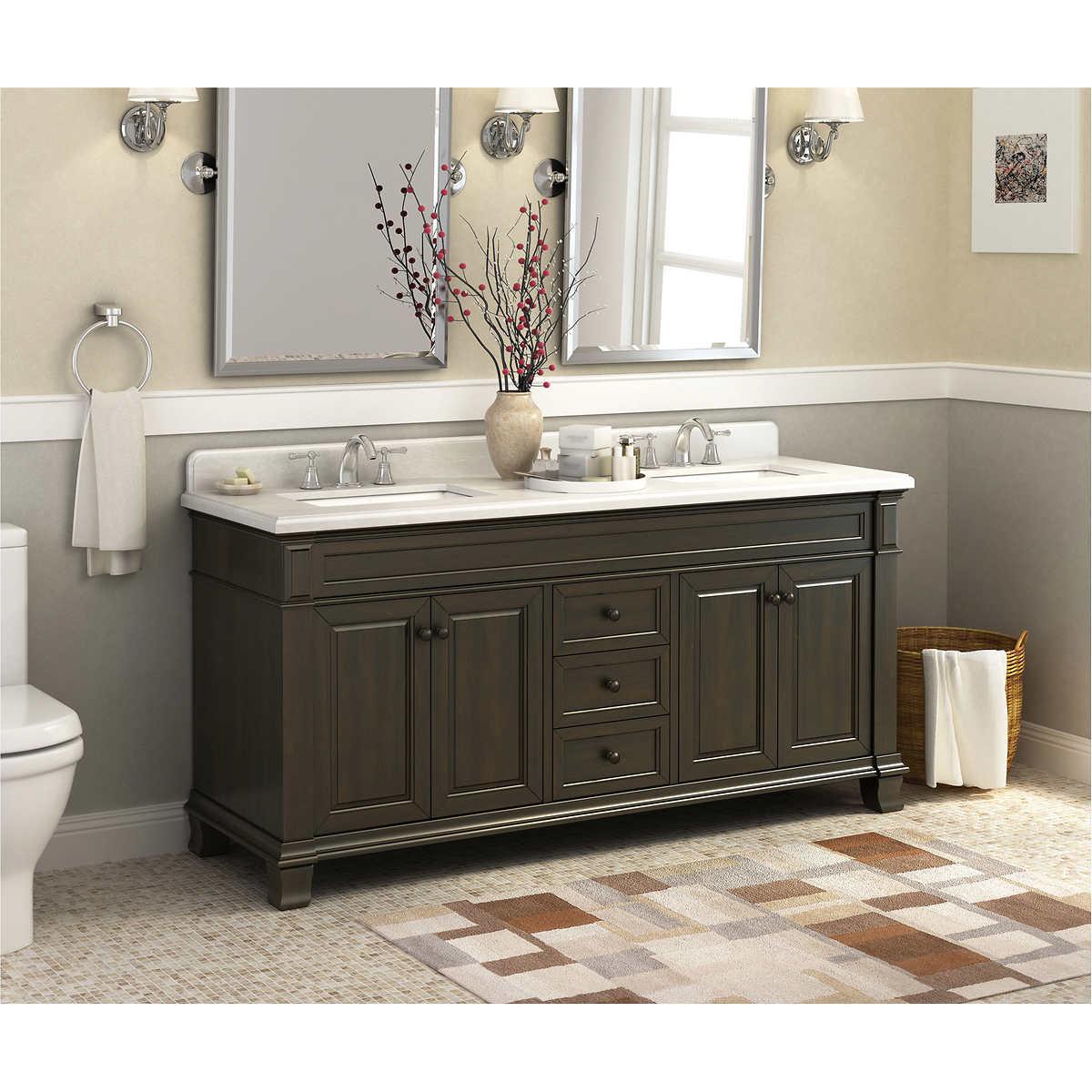 6 Foot Double Sink Bathroom Vanity