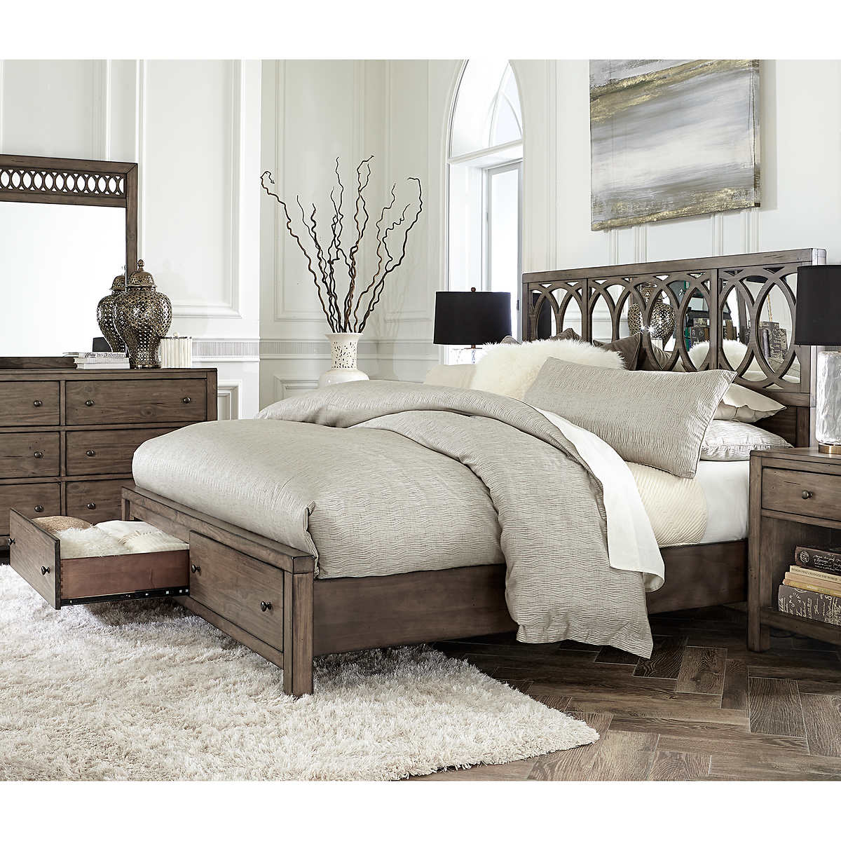 Beverly Mirrored Cal King Bed