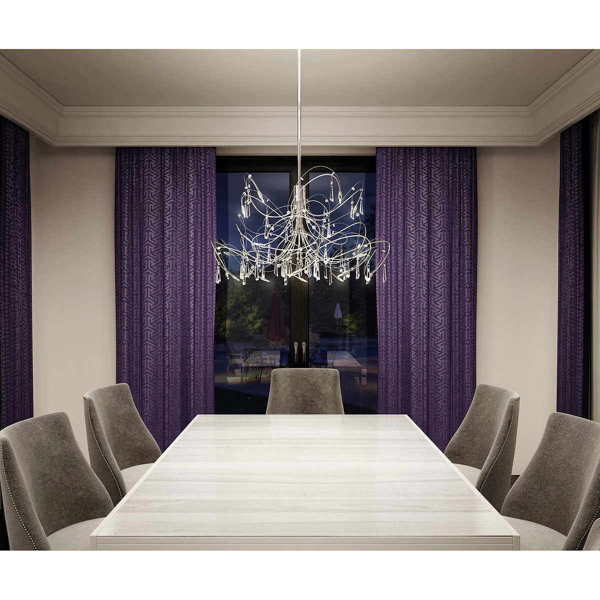 Cosmos 27 led chandelier by artika click to zoom arubaitofo Gallery