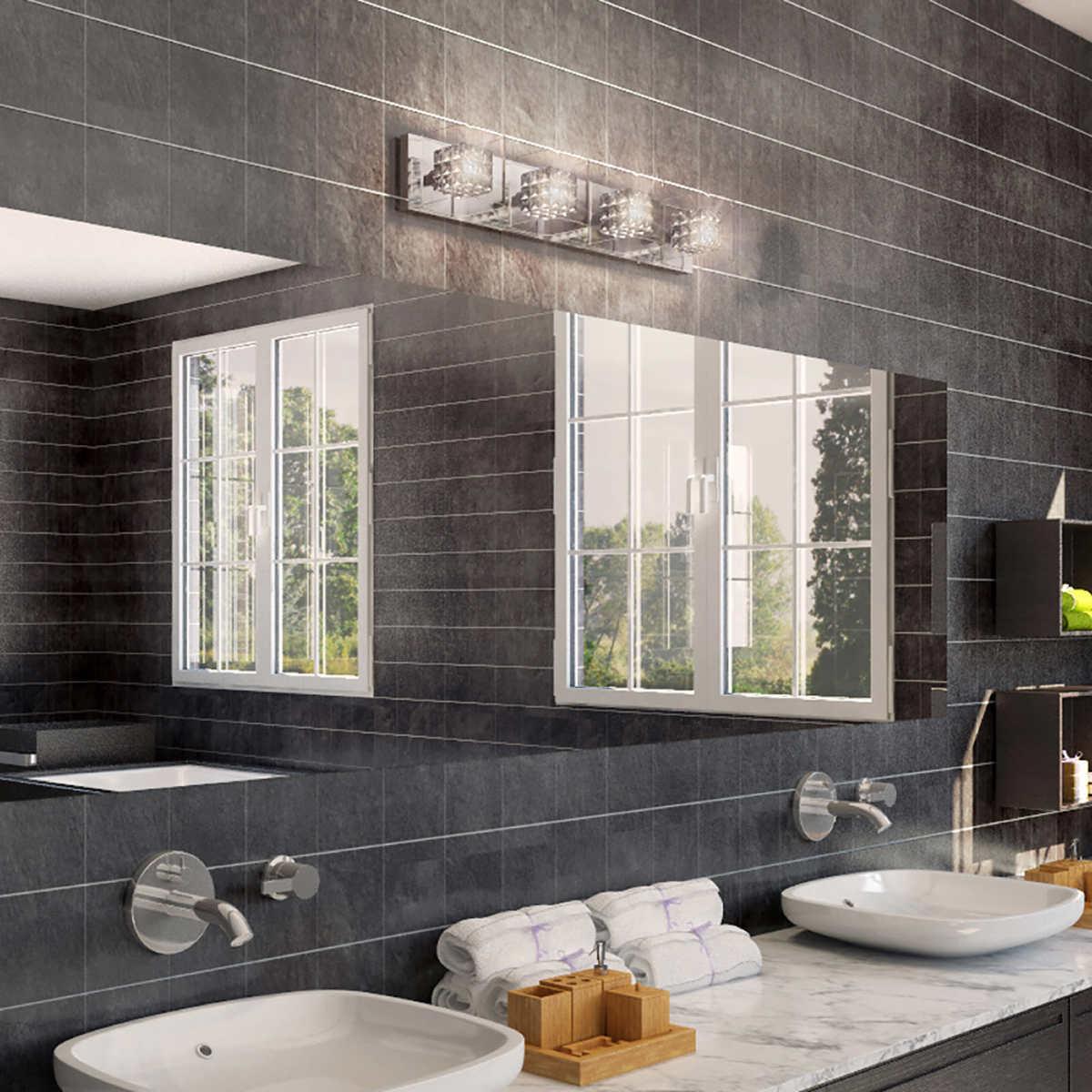 Costco bathroom lighting - Crystal Cubes 31 Light Fixture By Artika