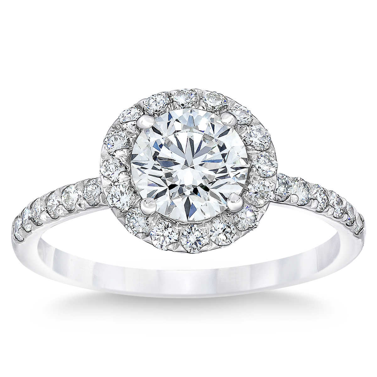 Round Brilliant 145 Ctw Vs2 Clarity, I Color Diamond Platinum Ring