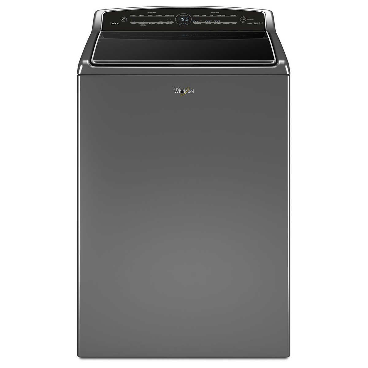 The best top load washer and dryer combo 2015 - Whirlpool 5 3cuft Smart Cabrio Top Load Washer With Laundry App In Chrome Shadow