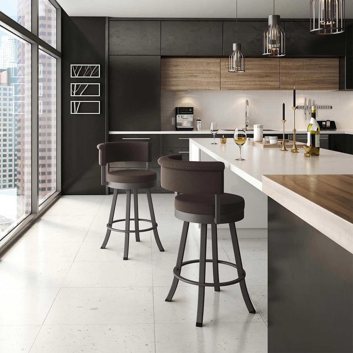 Cheyenne home furnishings bar stool - Americo 26 Swivel Barstool Variegated Gray
