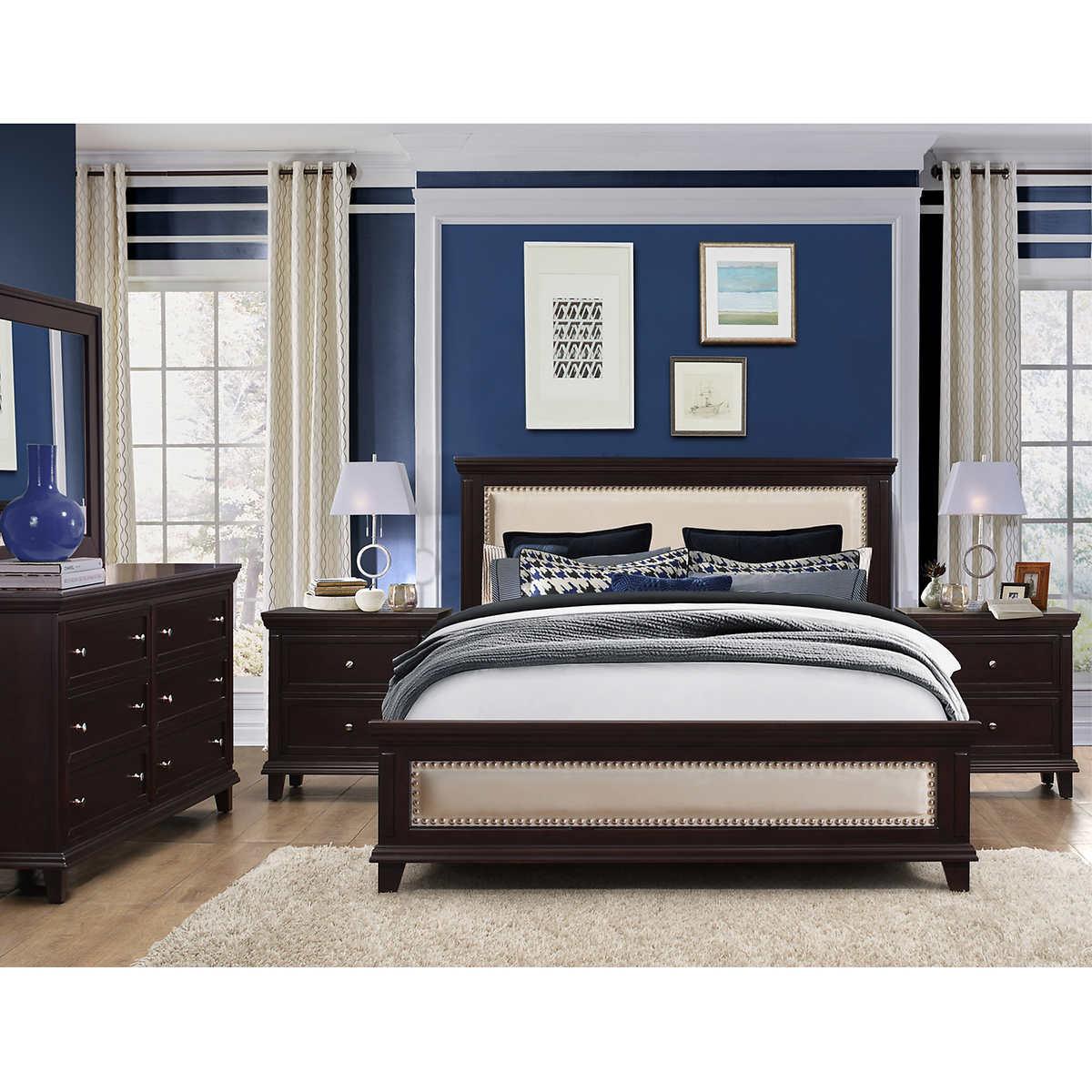cal king bedroom sets  costco - johanna piece cal king bedroom set