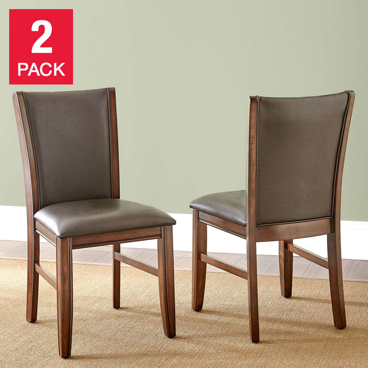 dining chairs leather kitchen chairs Edgewater Dining Chair 2 pack