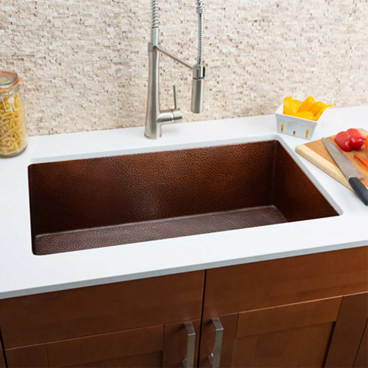 hahn copper large undermount single bowl sink - Kitchen Sinks Pictures