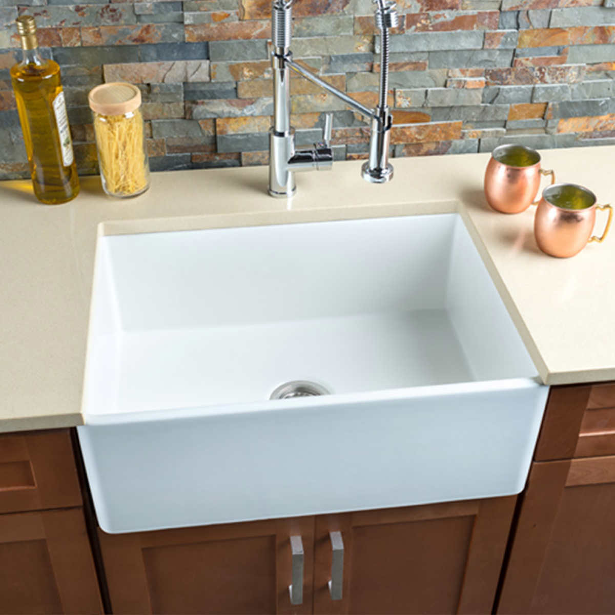 Hahn Copper Single Bowl Farmhouse Sink
