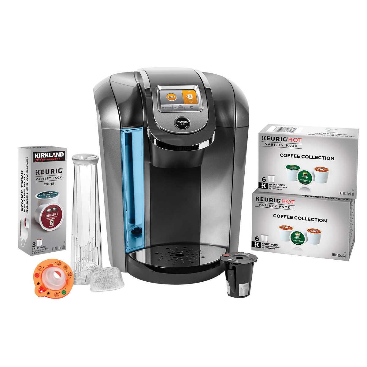 Keurig k525c single serve coffee maker 15 k cup pods and for Keurig coffee maker