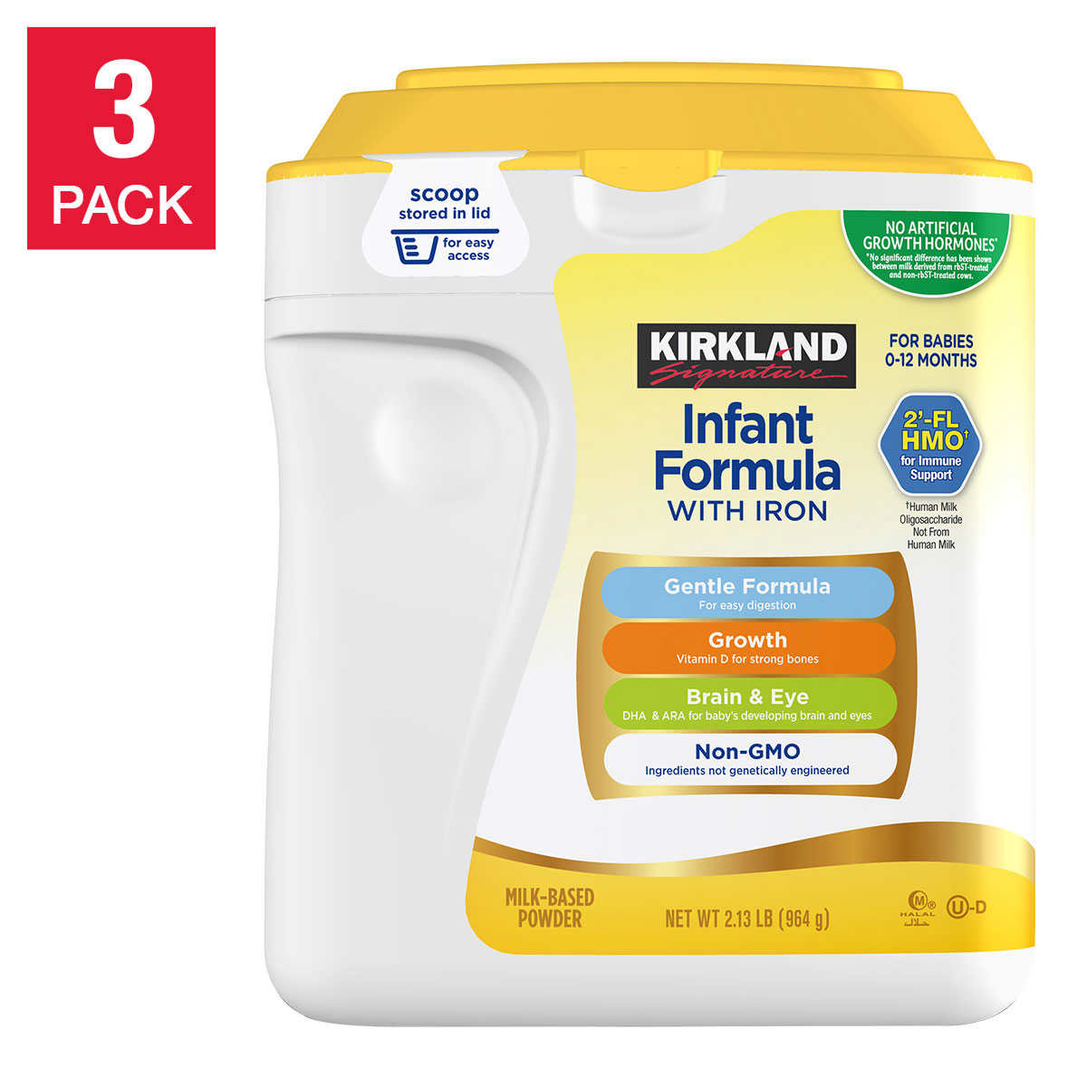 formula feeding kirkland signature non gmo infant formula 3 count 34 oz