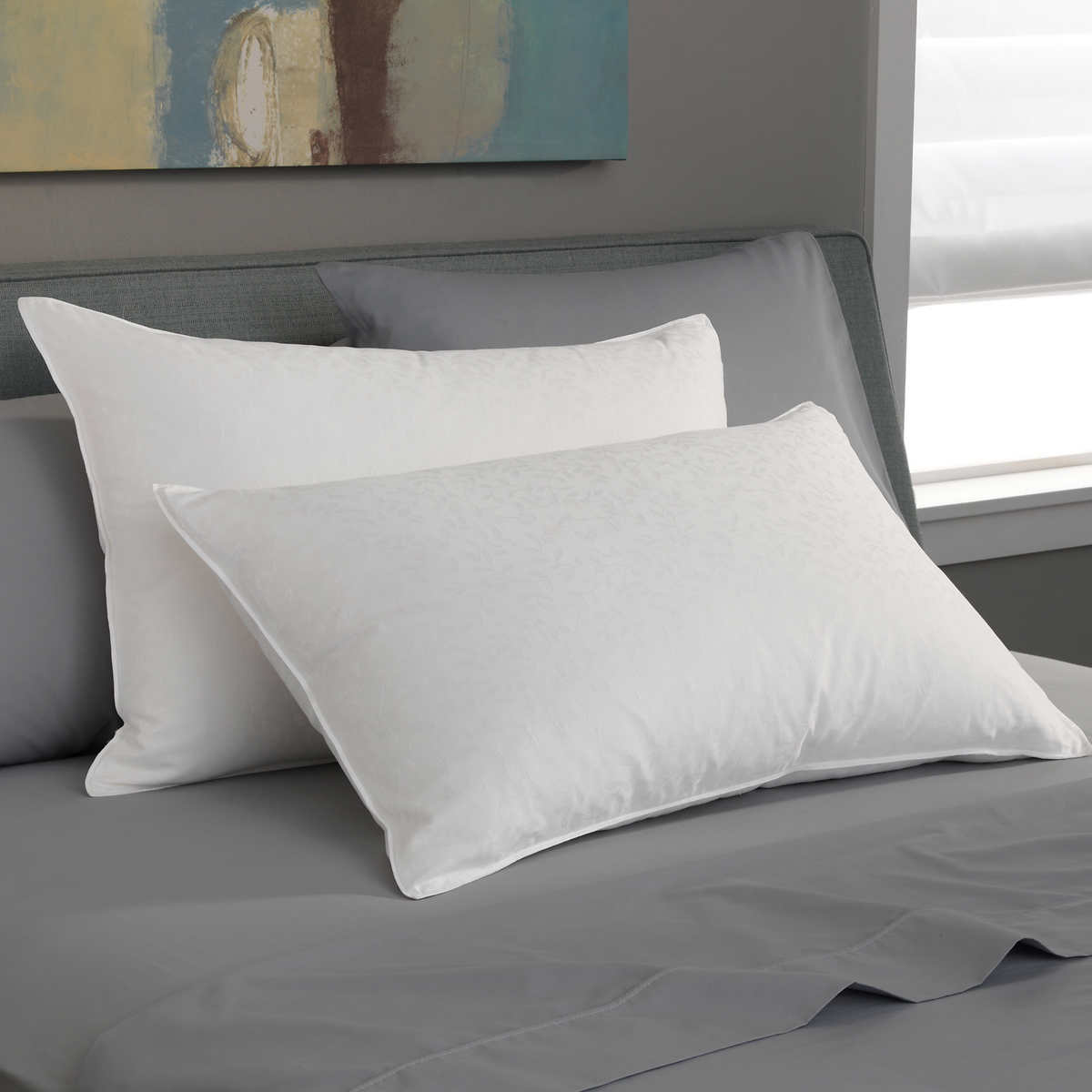 White bed pillows - Pacific Coast Firm Support White Goose Down Luxury Pillow