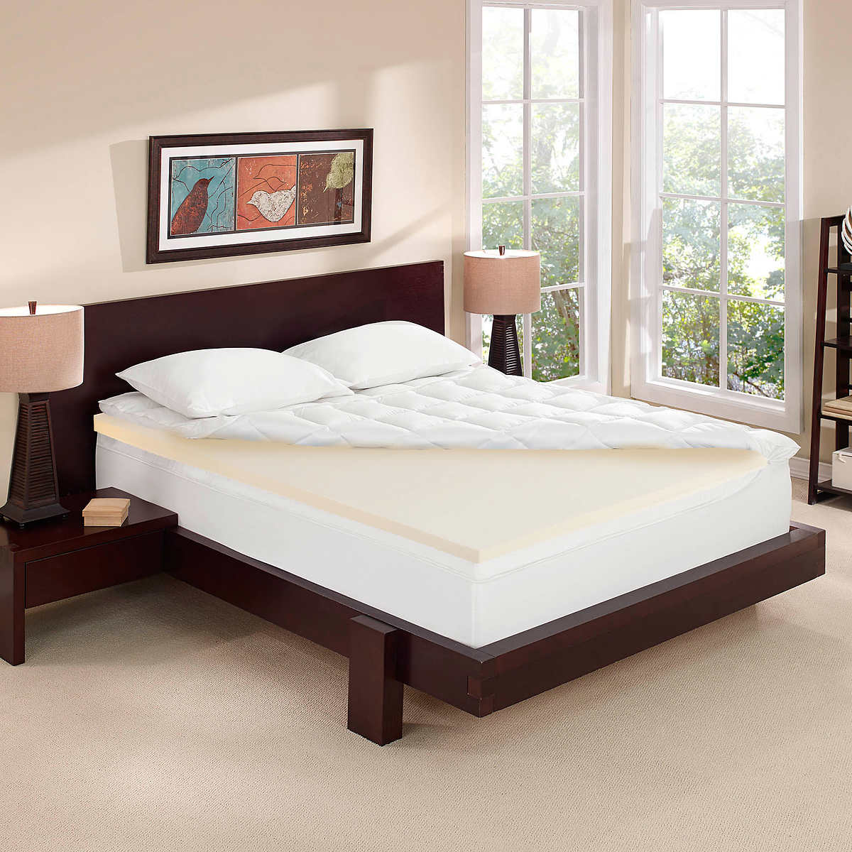 Novaform 4 Dual Layer Memory Foam Mattress Topper