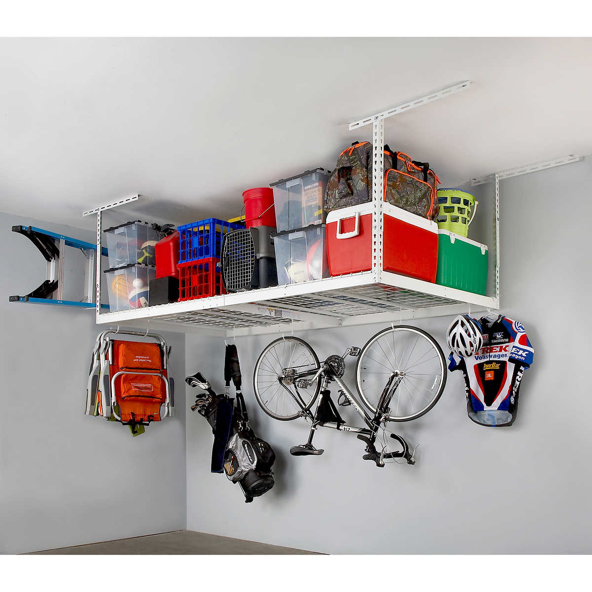 Saferacks 4 Ft X 8 Ft Overhead Garage Storage Rack And