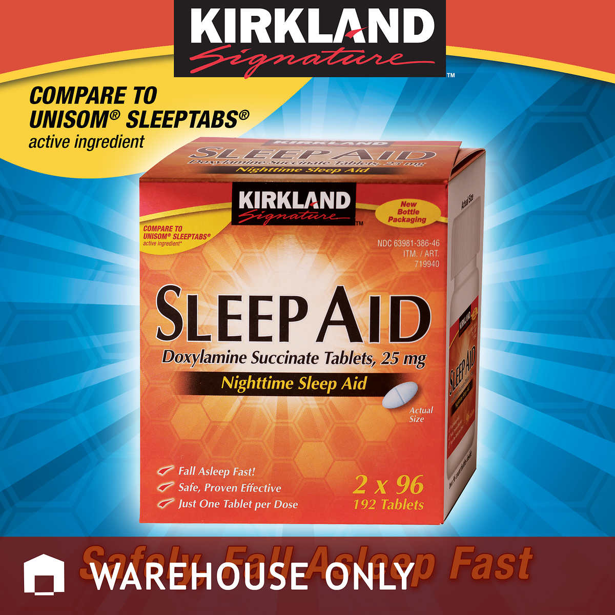. Kirkland Signature Sleep Aid  25 mg   192 Tablets