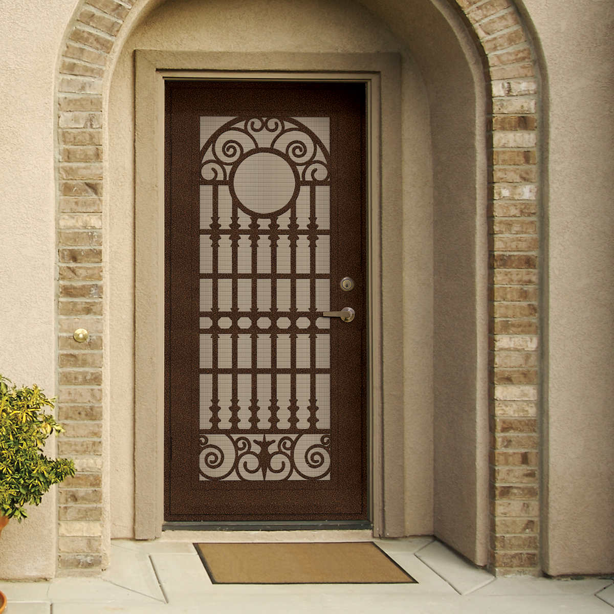 Doors door hardware costco spaniard copperclad 36 x 80 security door vtopaller Image collections