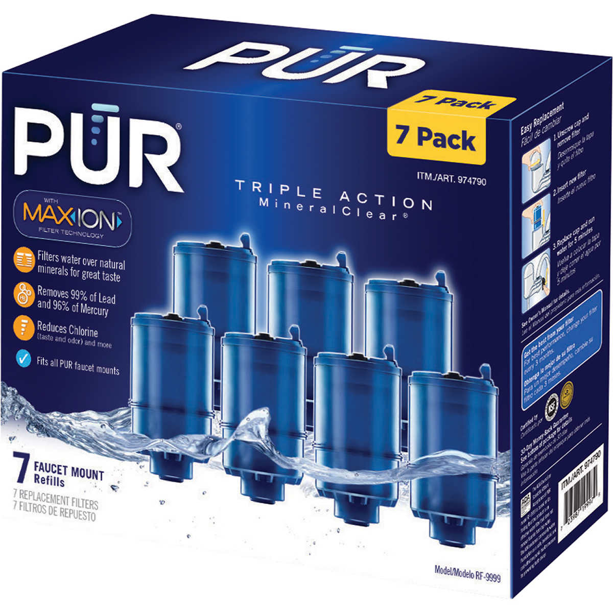PUR MineralClear 7-piece Replacement Water Filter with MAXION ...