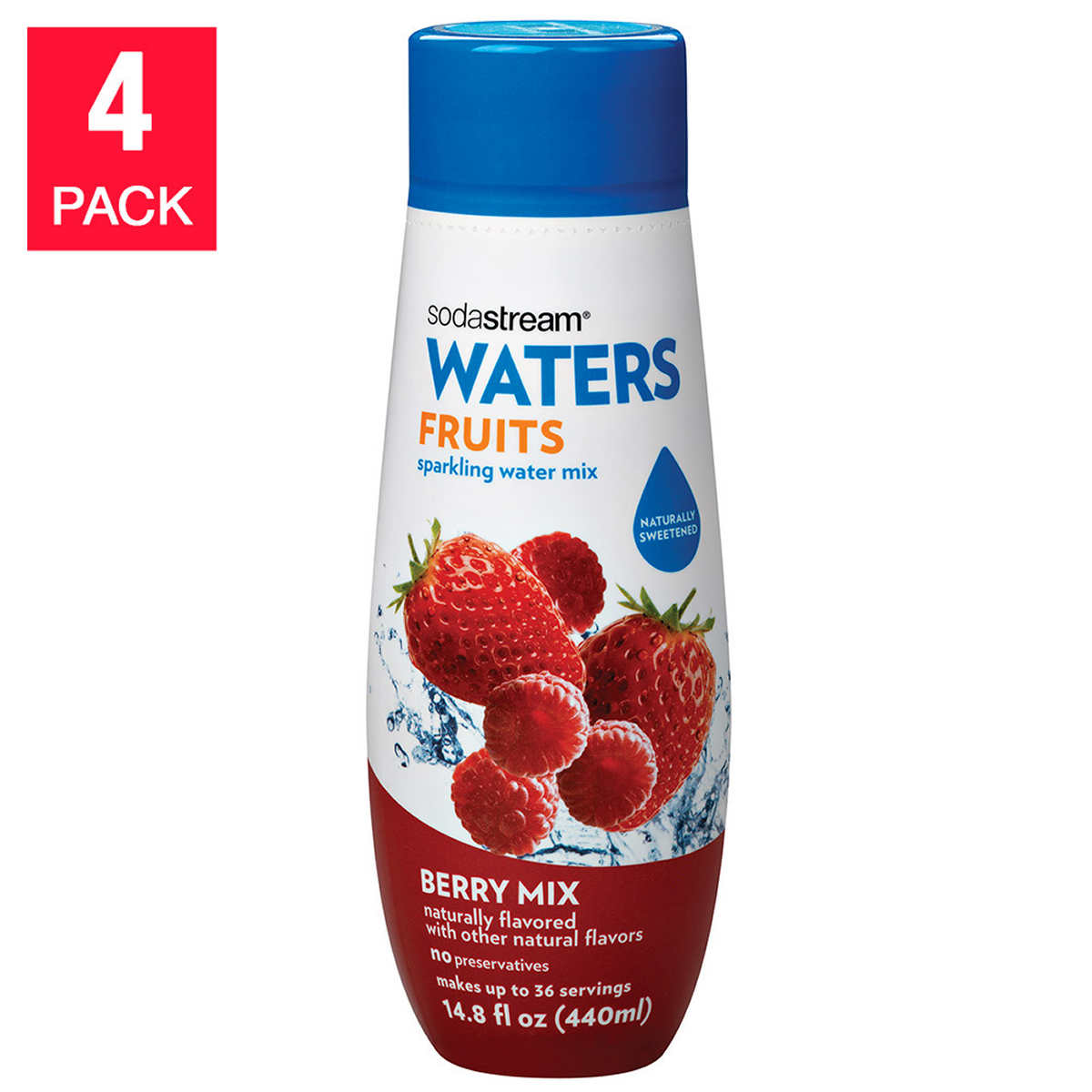 Sparkling clean kitchen clipart - Sodastream Sparkling Waters Berry Drink Mix 4 Count