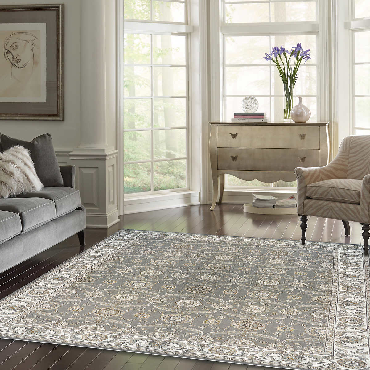 Clic Antiquity Olefin Machine Made Rug Collection Cameron Bisque