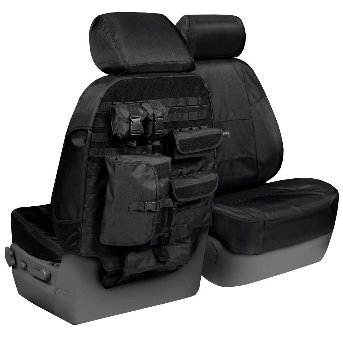 Coverking 1 row tactical seat cover black charcoal