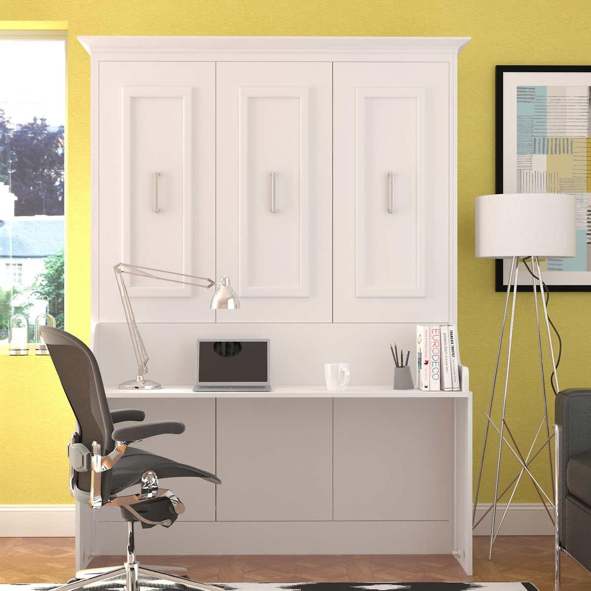 Zoom Room Murphy Bed Bed Room Porter Queen Portrait Wall Bed With Internal Storage In