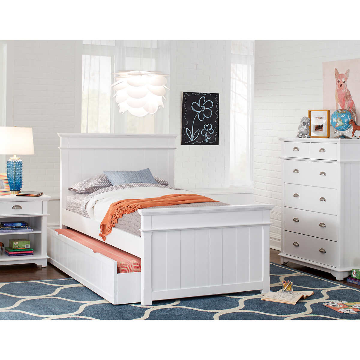 Annette 3 Piece Twin Trundle Bedroom Set