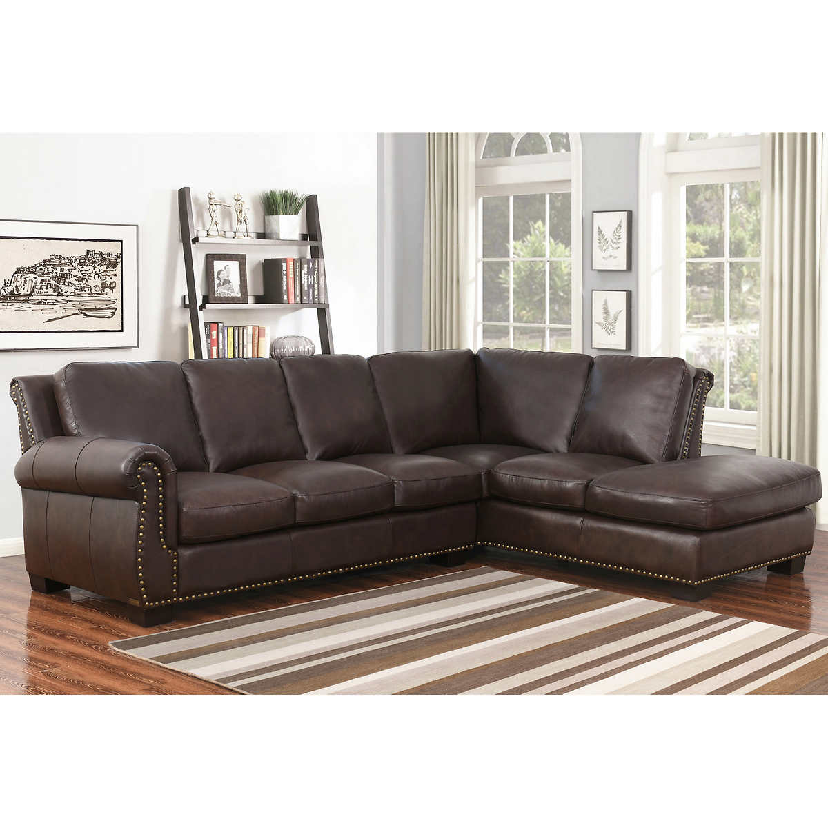 Leather Sectional Living Room Leather Sofas Sectionals Costco