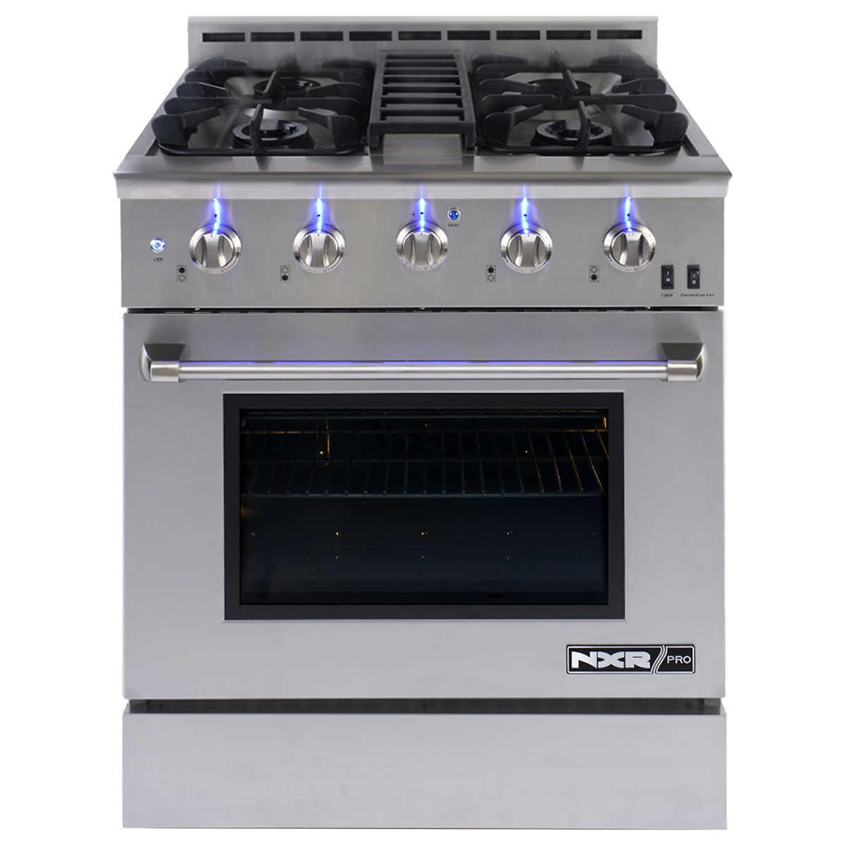 Whirlpool 5 burner gas range - Nxr Pro 30 Professional Style Gas Range In Stainless Steel Nxrpro3051