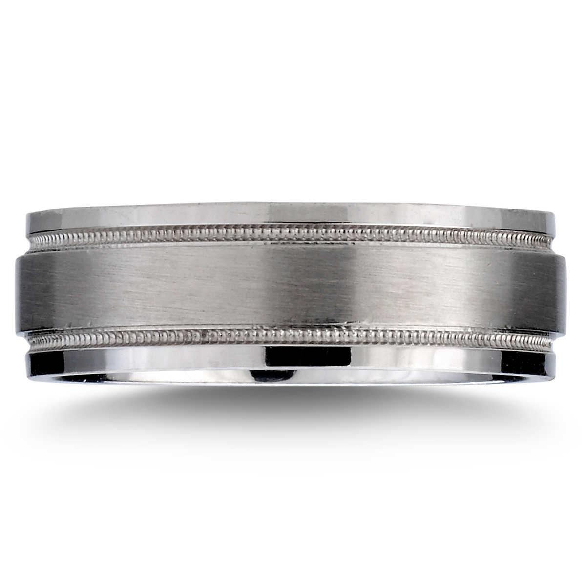 7mm comfort fit wedding ring platinum