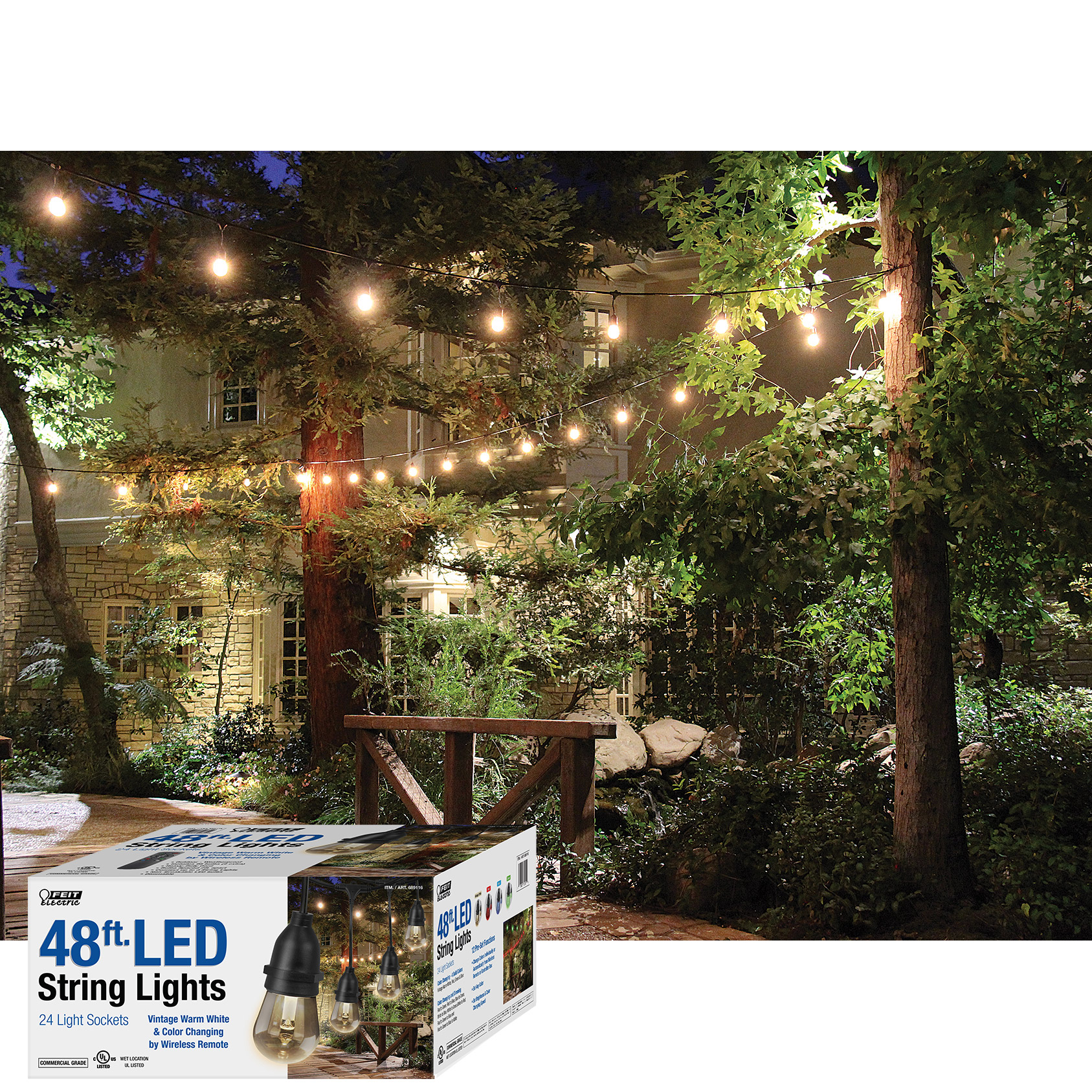 Outdoor Color Changing String Lights