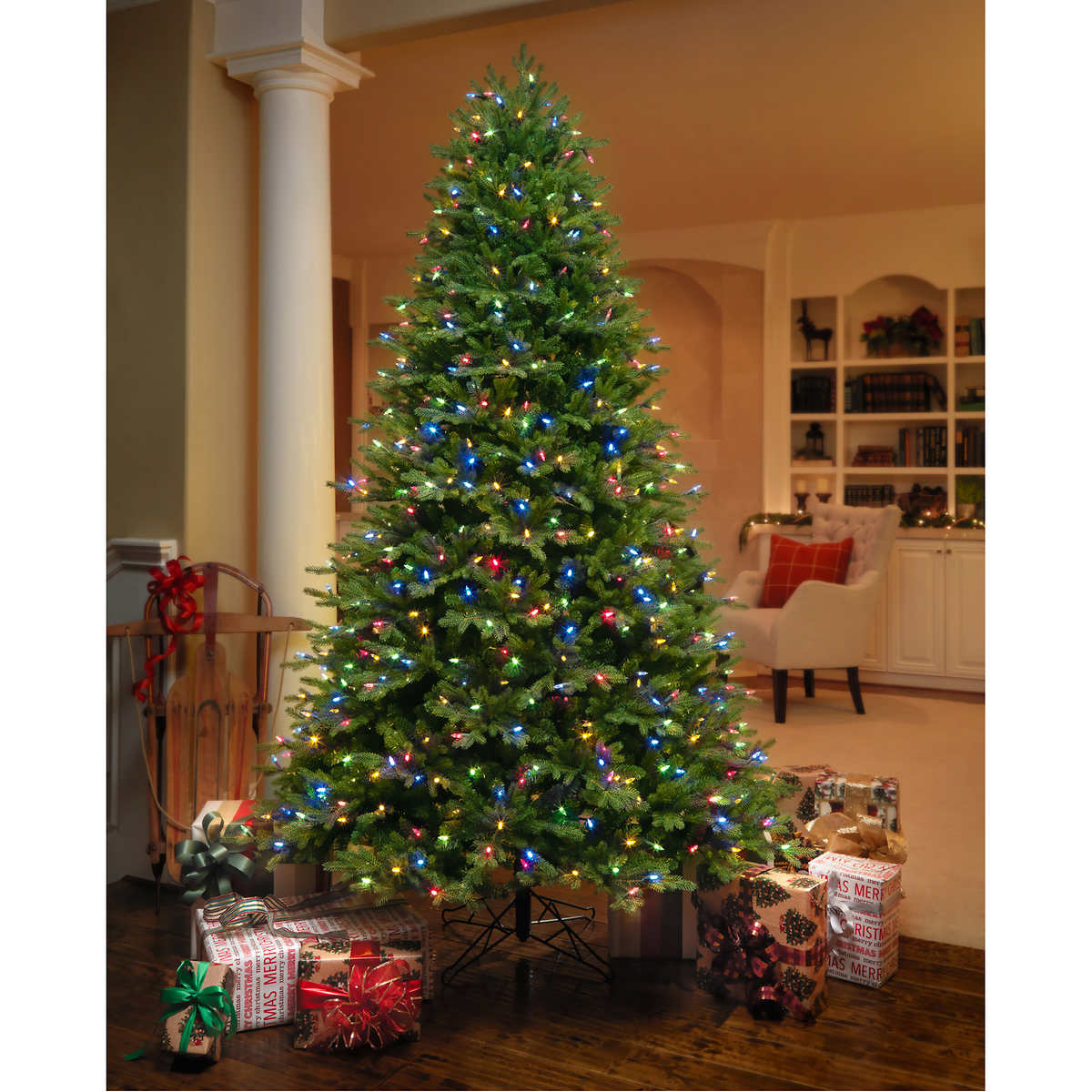 7 5' Artificial Aspen Fir Pre Lit Christmas Tree - Best Deal On Pre Lit Christmas Trees