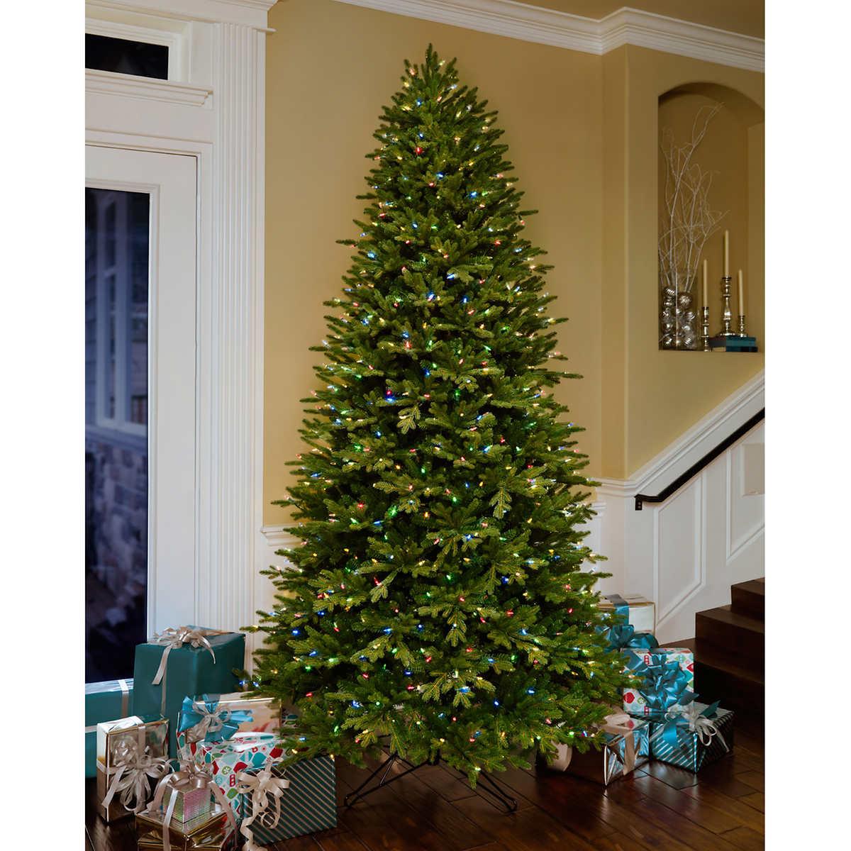 9' Artificial Aspen Fir Pre-Lit Christmas Tree