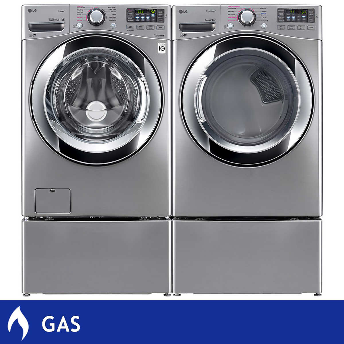 Gas Washers And Dryers Lg 45cuft Ultra Large Capacity Washer With Steam Technology 74