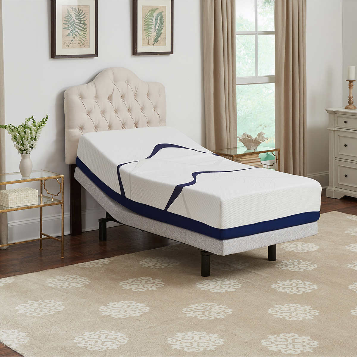 Twin size sleep number bed prices - Leggett Platt Brookwood 12 Twin Xl Gel Memory Foam Mattress With Adjustable Base