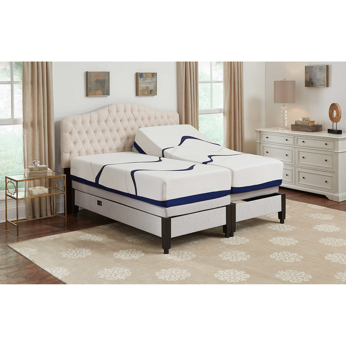 leggett platt attwood 12 split cal king memory foam mattress with adjustable base