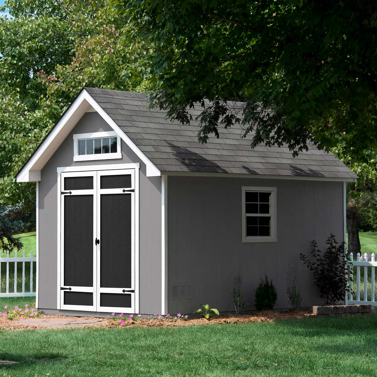 everton 8 x 12 deluxe wood storage shed - Storage Shed House
