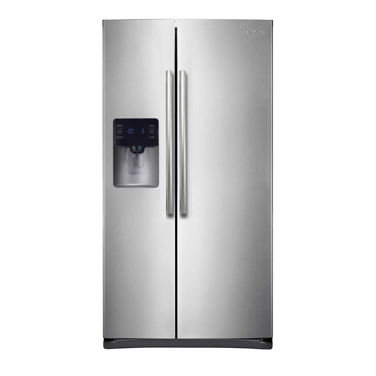 Ge 30 inch side by side white refrigerator - Samsung 24 5cuft Side By Side Refrigerator With In Door Ice Maker In