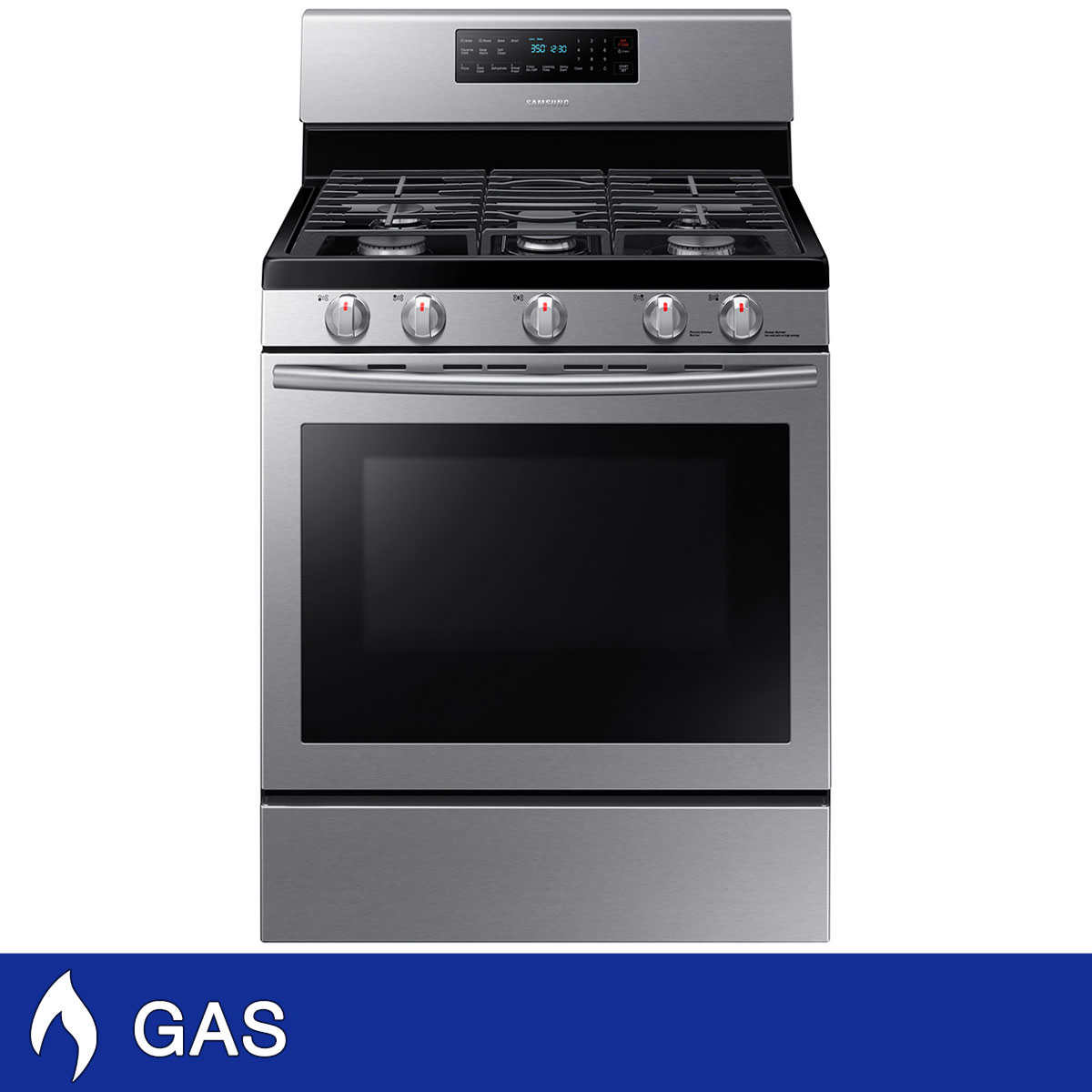 Whirlpool 5 burner gas range - Samsung 5 8cuft Gas Range With Convection Cooking In Stainless Steel