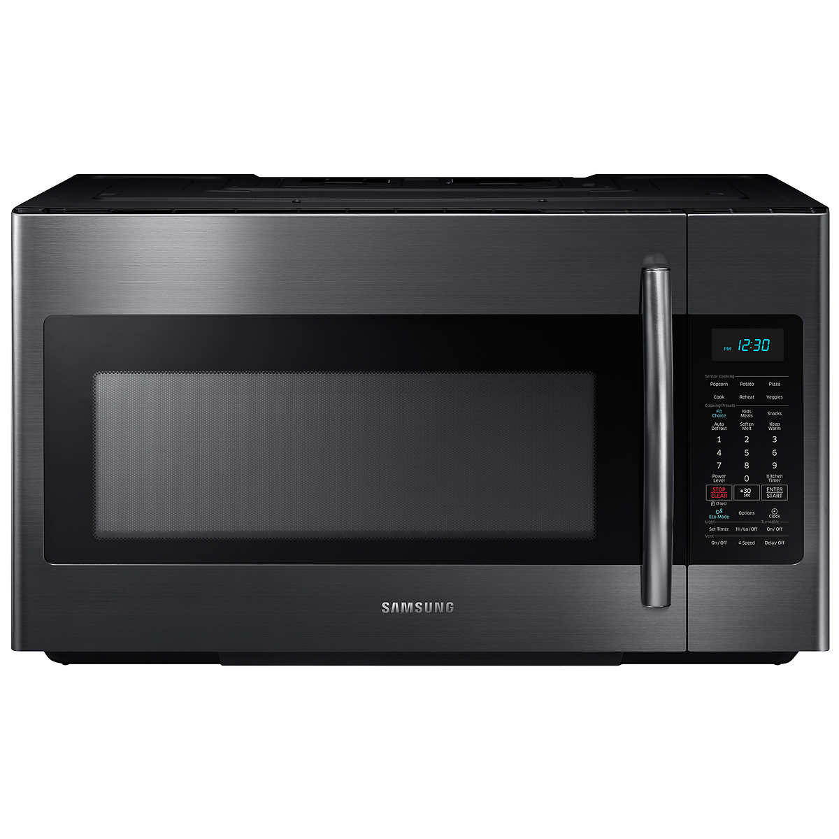 Home kitchen appliances microwaves over the range microwaves - Samsung 1 8cuft Over The Range Microwave With Sensor Cooking In Black Stainless Steel