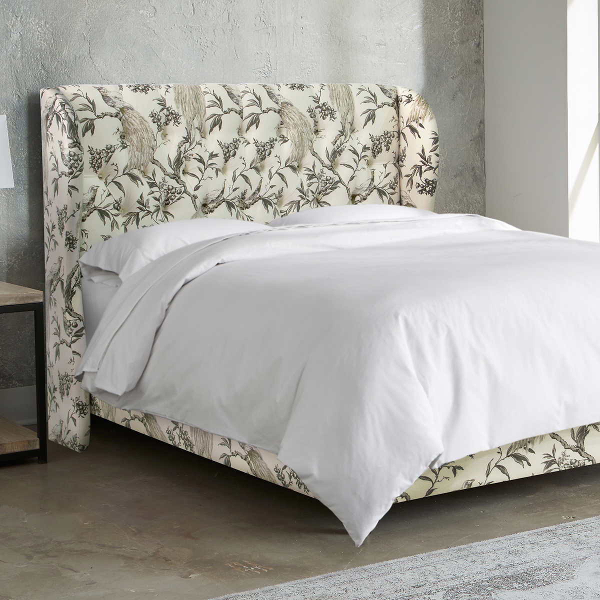 allegro tufted upholstered king bed in roberta winter