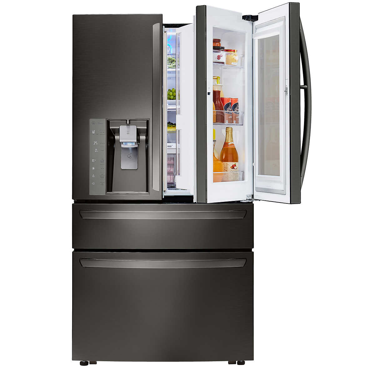 Whirlpool white ice costco - Lg 30cuft 4 Door French Door With Instaview In Black Stainless Steel